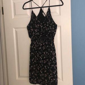 Lush black floral dress